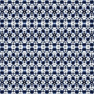 Indigo Tie Dye Pattern by TammyWetzel