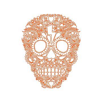 Skull of Día de Muertos by KevinGC