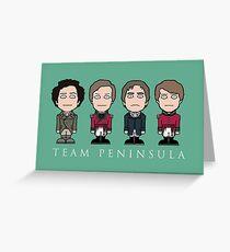 Team Peninsula Greeting Card