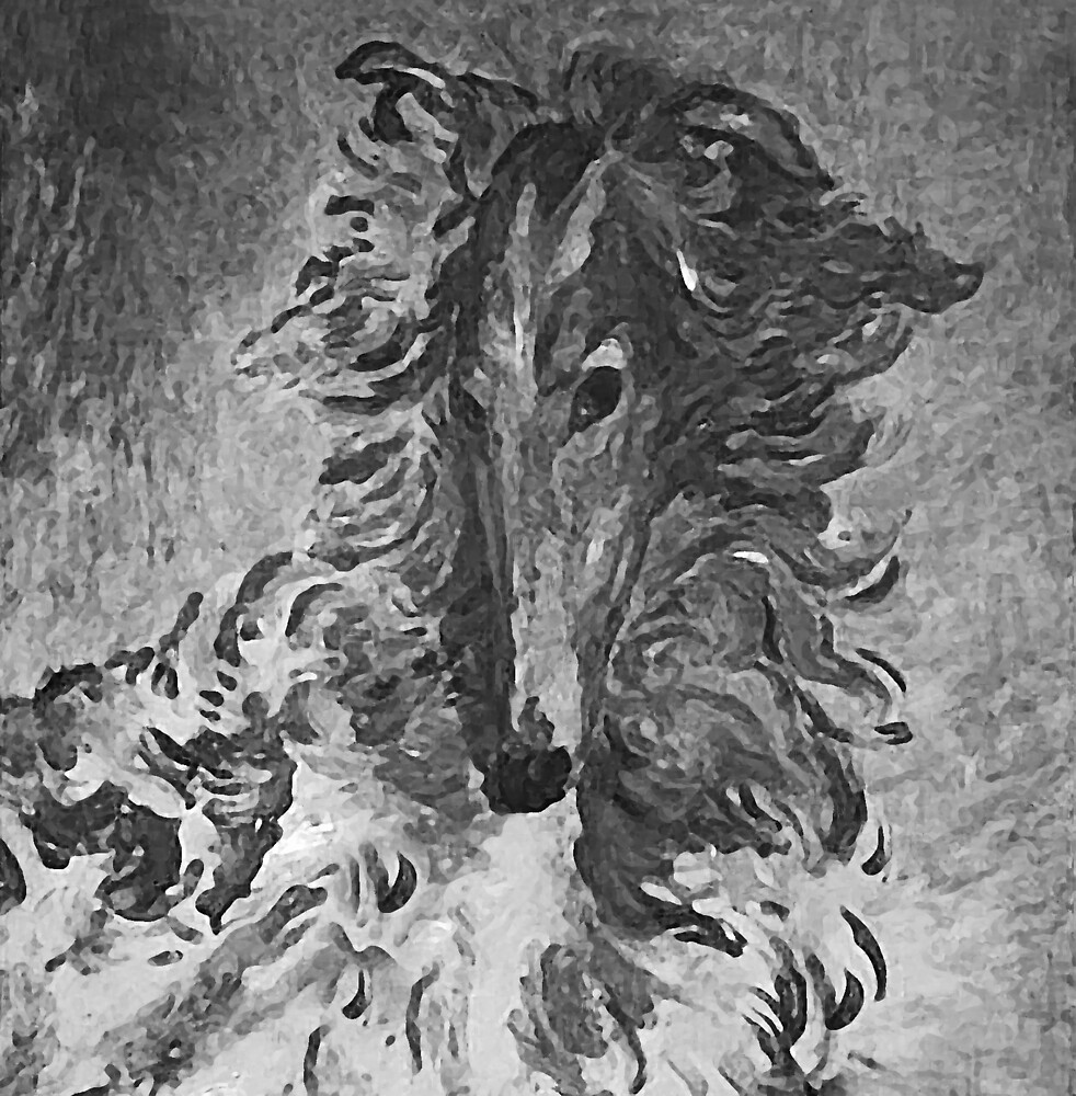 Charcoal Vintage Borzoi by Happy Dog Swag