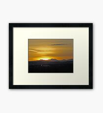 Sunset On The Rockies II Framed Print