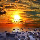 Sunset Shoreline by Beechhousemedia