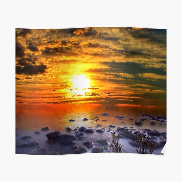 Sunset Shoreline Poster