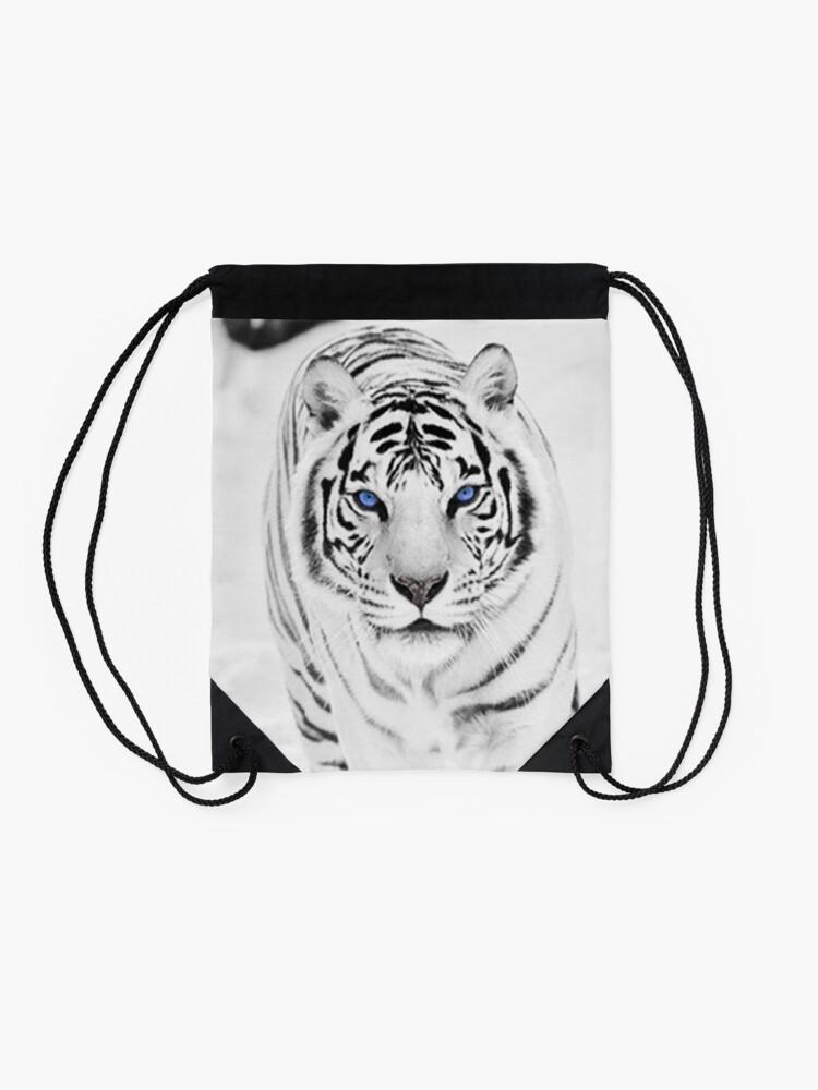 Alternate view of White Tiger Drawstring Bag