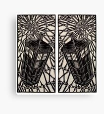 Tardis Charcoal Art  Canvas Print
