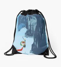 Ice climber Drawstring Bag