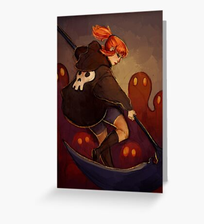 Reaper Girl Greeting Card