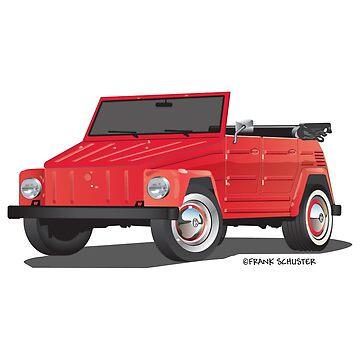 VW 181 Thing Kuebelwagen Trekker Red by azoid