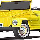 VW 181 Thing Kuebelwagen Trekker Yellow by Frank Schuster