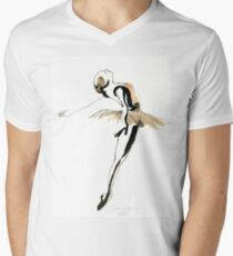 Ballet Dance Drawing V-Neck T-Shirt