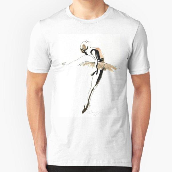 Ballet Dance Drawing Slim Fit T-Shirt