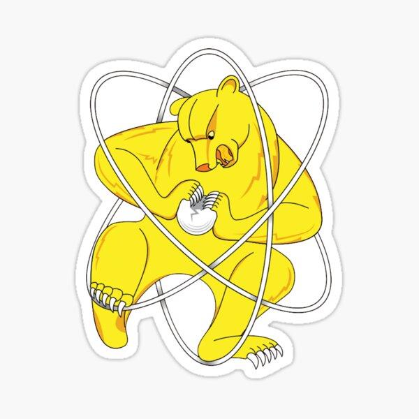 Zheleznogorsk flag, Bear cleaving atom Sticker
