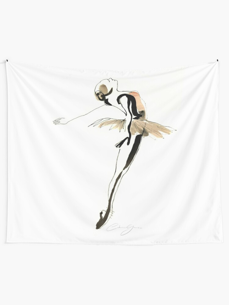 Alternate view of Ballet Dance Drawing Wall Tapestry