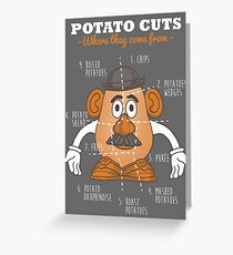 Potato Cuts Greeting Card