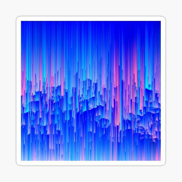 Glitchy Rain - Abstract Digital Piece Sticker