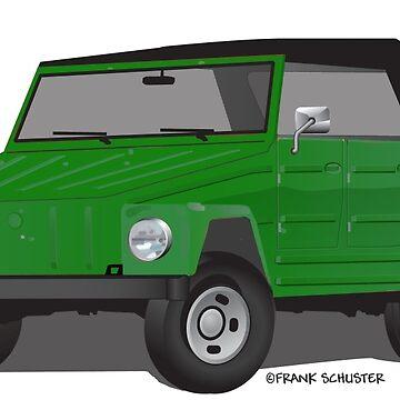 VW 181 Thing Kuebelwagen Trekker Acapulco Green Top On by azoid