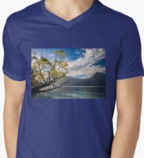 Beautiful Morning Light at Wilson Bay, NZ. Men's V-Neck T-Shirt