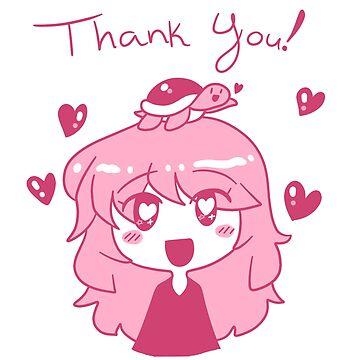 Thank You - Pink Turtle Girl by SaradaBoru