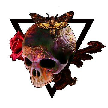 Golden Rainbow Skull by diana2266