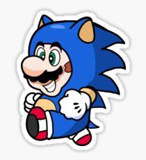 Super Mario Tanooki Sonic Suit Sticker