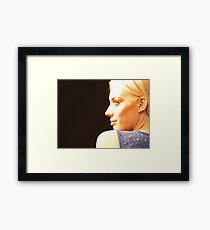 Blonde, Bold & Blue - Into The Light Framed Print