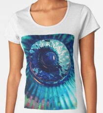 Staring Down the Bottle blue abstract Women's Premium T-Shirt