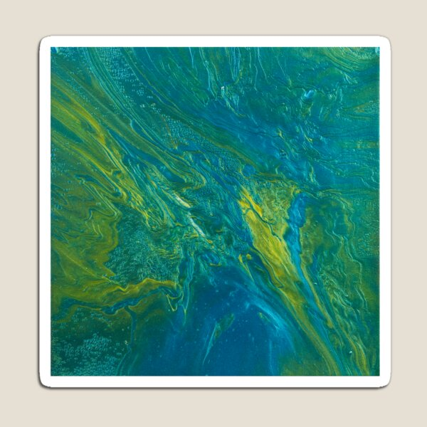 Green & Teal Abstract Magnet