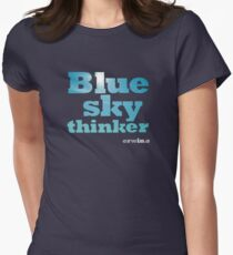 Blue Sky Thinker - dark colours Womens Fitted T-Shirt
