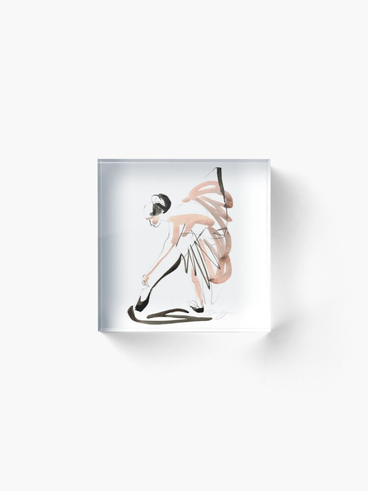 Alternate view of Expressive Watercolor Dance Drawing Acrylic Block