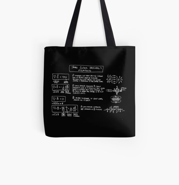 Maxwell's Equations [dark] All Over Print Tote Bag