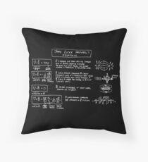 Maxwell's Equations [dark] Throw Pillow