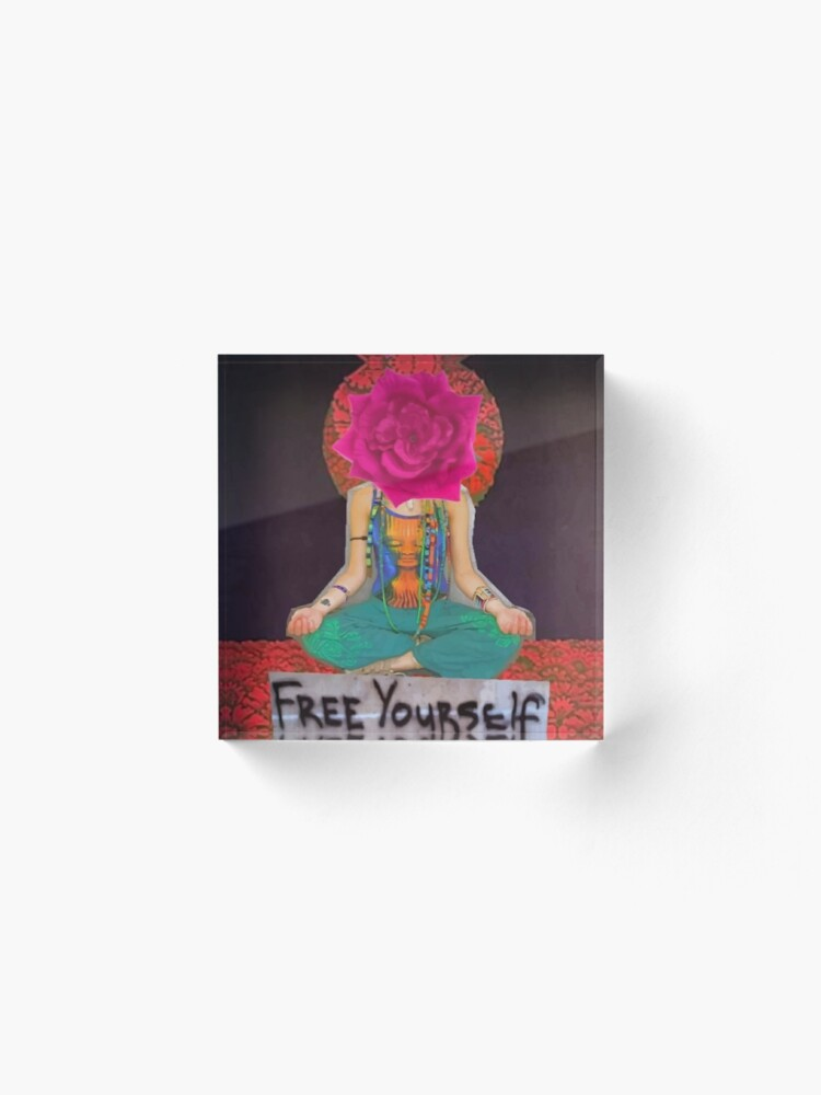 Alternate view of Free Yourself Acrylic Block