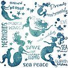 Dream Mermaids Pattern - weathered by jitterfly