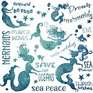 Dream Mermaids Pattern - weathered by jitterfly