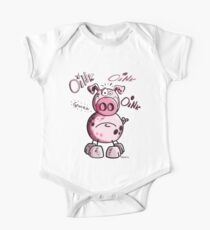 Oink Oink Funny Pink Pig One Piece - Short Sleeve