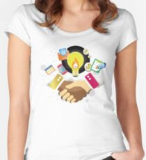 T-Shirt Partnership Breaks Prejudice Women's Fitted Scoop T-Shirt