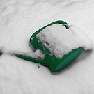snow covered watering can ... coloured version by SNAPPYDAVE