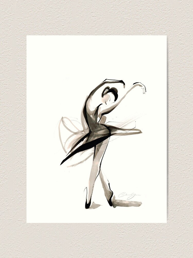 Expressive Watercolor Dance Drawing Art Print By Catarinagarcia Redbubble