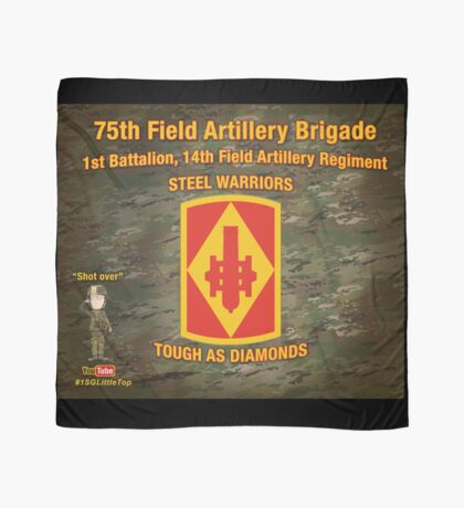 75th Artillery Tapestry Scarf