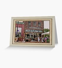 """""""Burrville Antiques"""" ... with a matted and framed presentation, for prints and products Greeting Card"""