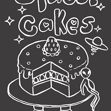 Space Cakes - White Line by SaradaBoru