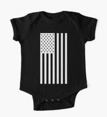 US Flag - Black & White One Piece - Short Sleeve