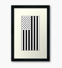 US Flag - Black & White Framed Print