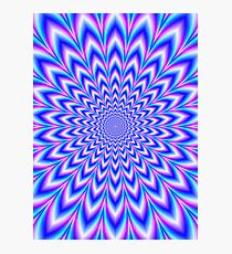 Psychedelic Pulse in Blue and Pink Photographic Print