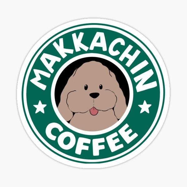 Makkachin Coffee Sticker