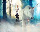 Grumpy Fairy with Unicorn by jitterfly