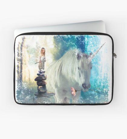 Grumpy Fairy with Unicorn Laptop Sleeve