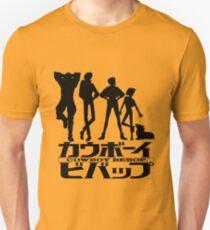 Cowboy Bebop Crew Lineup with Title Unisex T-Shirt