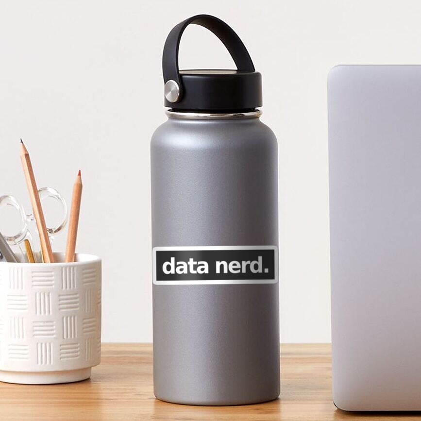 Data Nerd - Gray Sticker