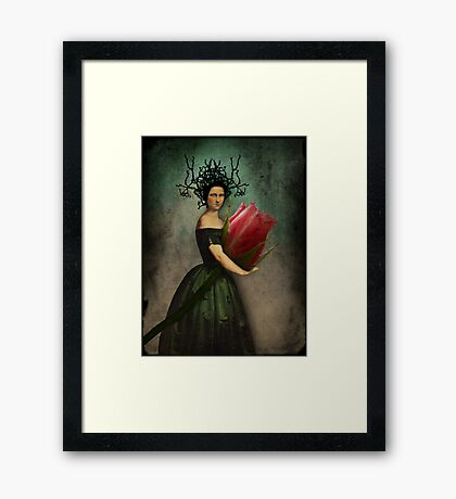 Mona's rose Framed Print